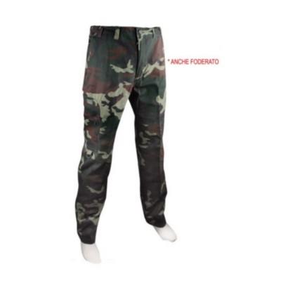 Pantalone tess. canvas con tasconi foderato - SAFARI SPORT